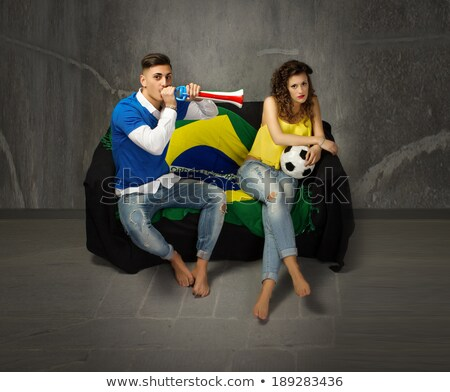 Two couples supporting Italian football Stock photo © photography33