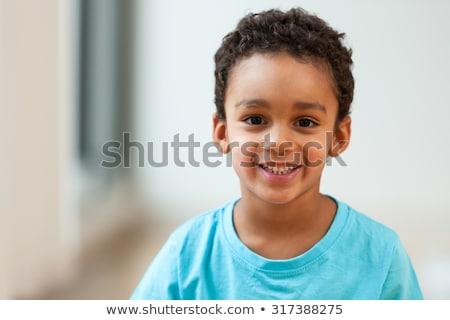 Sevimli erkek gündelik afro Stok fotoğraf © SLP_London