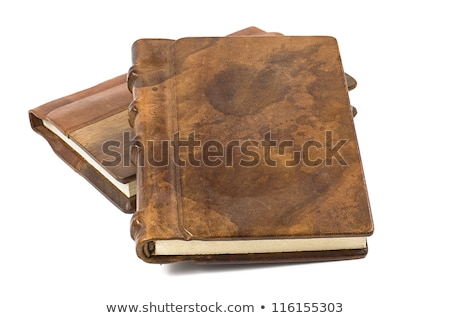 precious book with a noble leather and wooden cover Stock photo © Zerbor