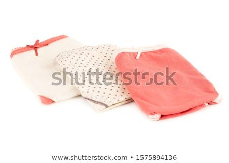 単純な · 綿 · パンティー · 白 · 女性 - ストックフォト © ruslanomega
