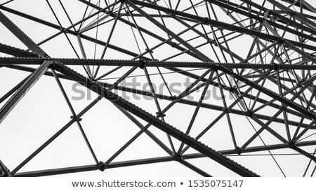 árvores · céu · nuvens · metal · azul - foto stock © jakatics