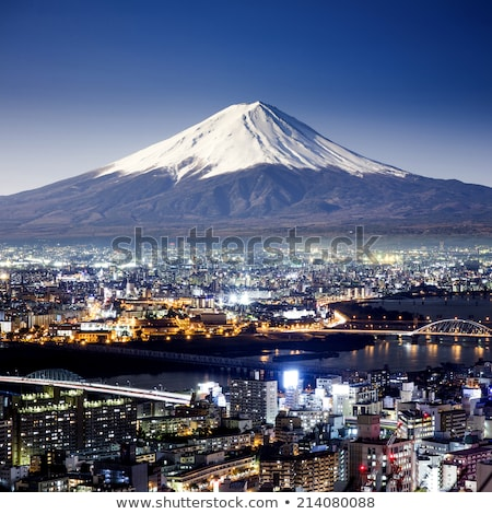 Surreal view of Yokohama city and Mt. Fuji Stock photo © shirophoto
