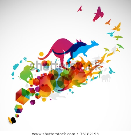 Magenta Bird Icon Stock photo © cidepix