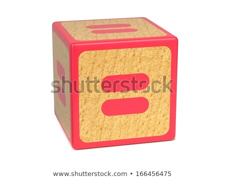 Equal Sign - Childrens Alphabet Block. Stock photo © tashatuvango