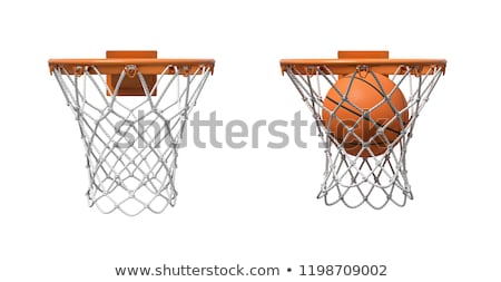 Basketballplatz · net · Himmel · Hintergrund · Fitnessstudio · blau - stock foto © stevanovicigor