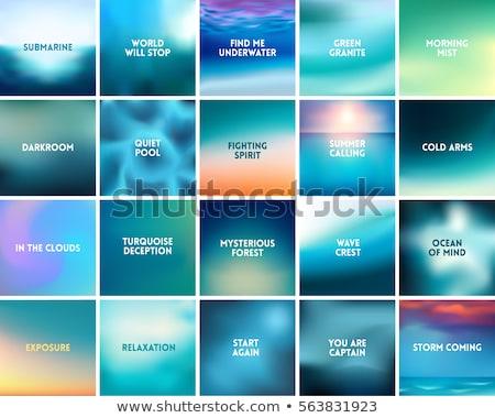 Bright Shiny Waves Vector Background Gradient Mesh Stok fotoğraf © MarySan
