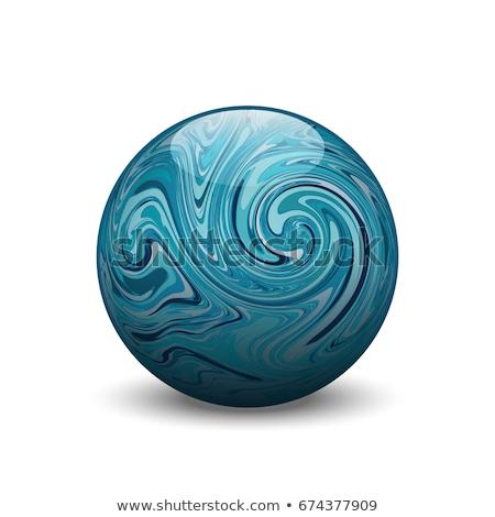 Blu agata gemma isolato bianco abstract Foto d'archivio © jonnysek