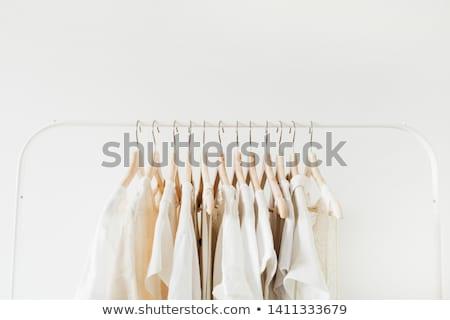 nő · citromsárga · ruházat · izolált · fehér · nyár - stock fotó © elnur