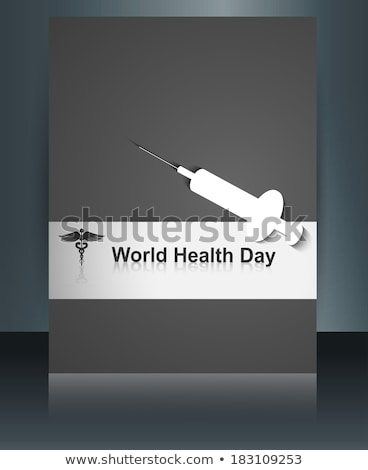 World heath day brochure template concept with medical symbol on Stock photo © bharat