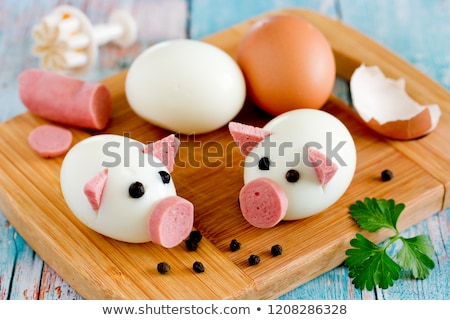 Kína · finom · korty · tojás · étel · étterem - stock fotó © bbbar