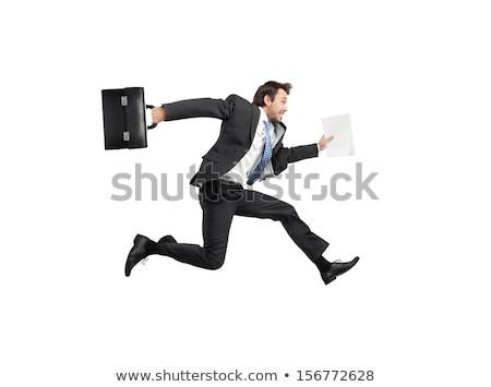 бизнесмен · сидят · портфель · бизнеса · фон · костюм - Сток-фото © elnur