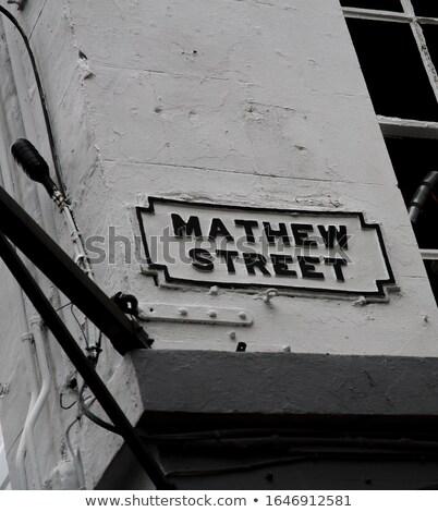 Mathew Street Sign in Liverpool Stock photo © chrisdorney