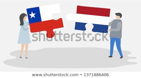 Hollanda Şili bayraklar bilmece yalıtılmış beyaz Stok fotoğraf © Istanbul2009