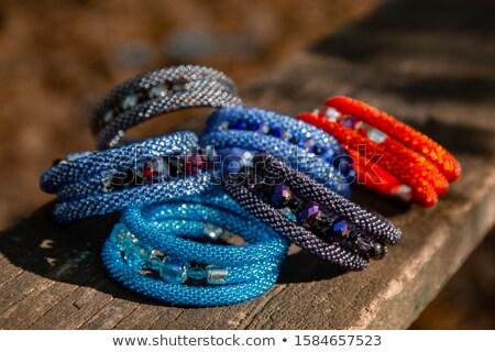 Természetes gyöngyök szép szín terv háttér Stock fotó © jonnysek