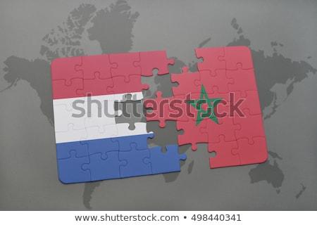 Нидерланды флаг головоломки изолированный белый бизнеса Сток-фото © Istanbul2009