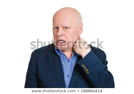 Man opening shirt to vent, it's hot, unpleasant, awkward situation Stock photo © ichiosea