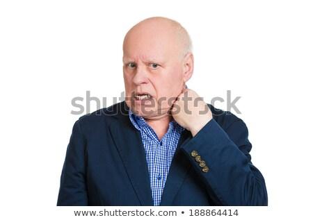 Hombre apertura camisa caliente desagradable Foto stock © ichiosea