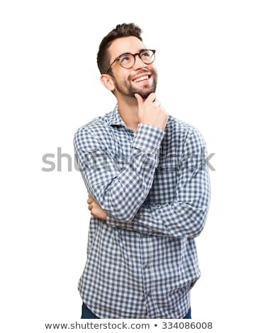 Funny Expression of a Young Man Thinking  Stock photo © NicoletaIonescu