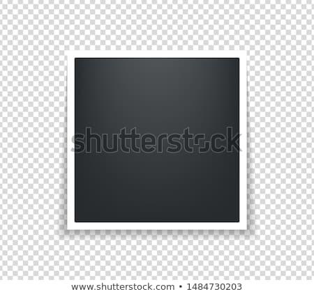 Polaroid foto abstrato vetor nuvens tecnologia Foto stock © saicle