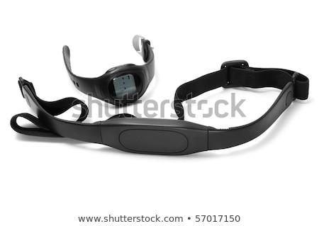 Pulzus szívritmus monitor óra mellkas pánt Stock fotó © feelphotoart