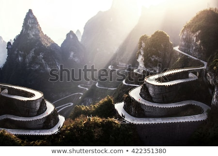 Dağ yol çevirmek kırsal dağlar doğa Stok fotoğraf © rognar