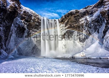 Snowey Waterfall Stock photo © ollietaylorphotograp