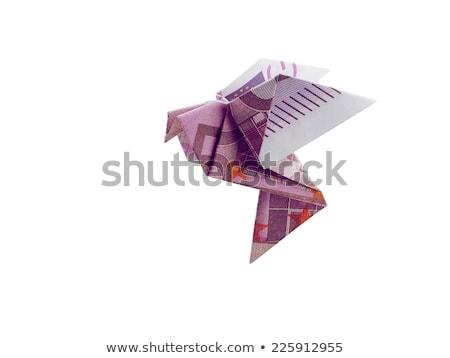 500 · Euro · pénz · bankjegyek · arany · gemkapocs - stock fotó © butenkow