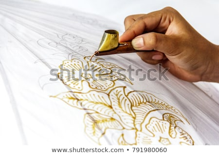 making a batik Stock photo © njaj