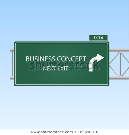 Estrategia de negocios carretera poste indicador carretera fondo signo Foto stock © tashatuvango