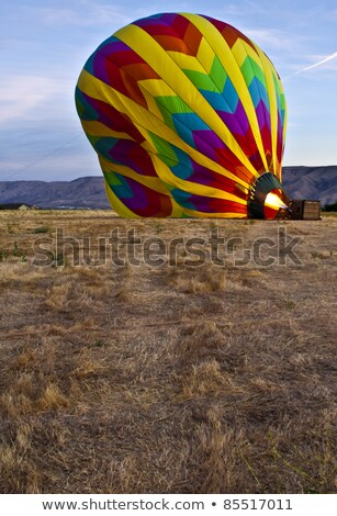 The inside of a large blue hot air balloon Stock photo © chrisga