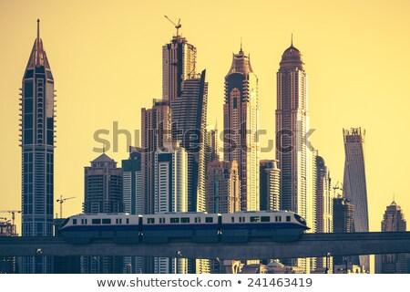 urbana · movimento · estrada · cidade · nuvens · viagem - foto stock © vwalakte