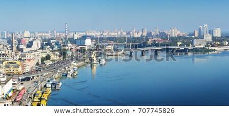 cityscape · Ucrânia · linha · do · horizonte · rio · ponte · mãe - foto stock © joyr