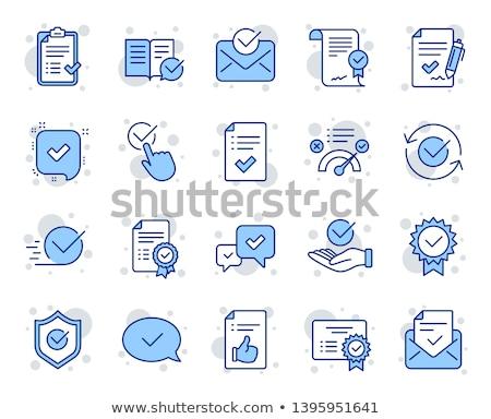 Certificado azul vetor ícone projeto digital Foto stock © rizwanali3d
