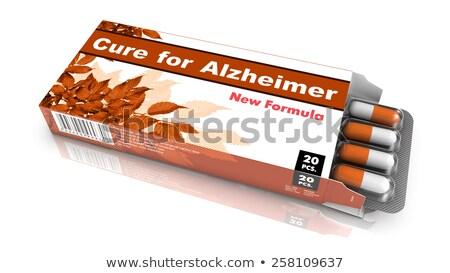 Curar demencia ampolla Pack pastillas verde Foto stock © tashatuvango
