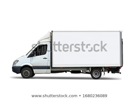 teherautó · konténer · űrlap · izolált · autó · doboz - stock fotó © ssuaphoto