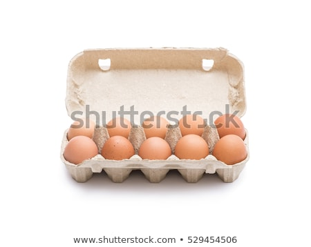carton boxes with eggs isolated on the white background Stock photo © ozaiachin