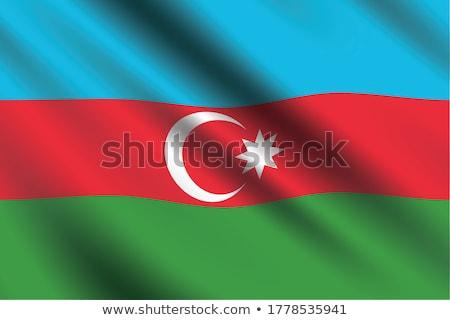 Bandeira Azerbaijão isolado branco Foto stock © MikhailMishchenko