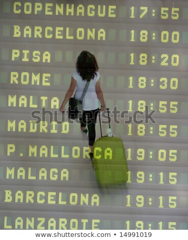 Malaga international airport departures board. Spain Stock photo © amok