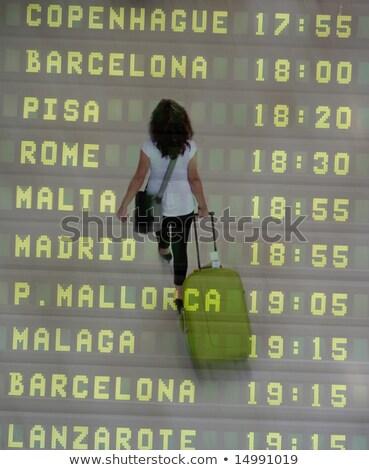 malaga international airport departures board spain stock photo © amok