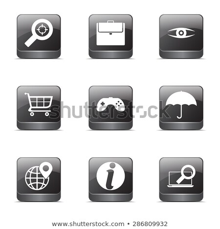 SEO Internet Sign Square Vector Black Icon Design Set 10 Stock photo © rizwanali3d