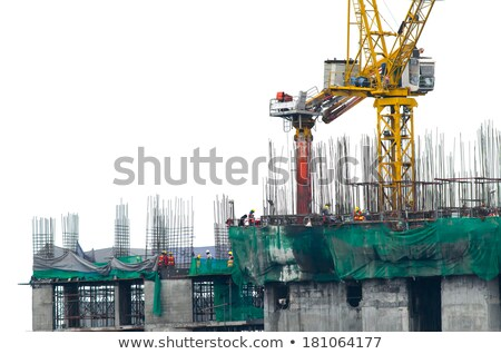 Home and building crane isolated on white background Stock photo © AlisLuch
