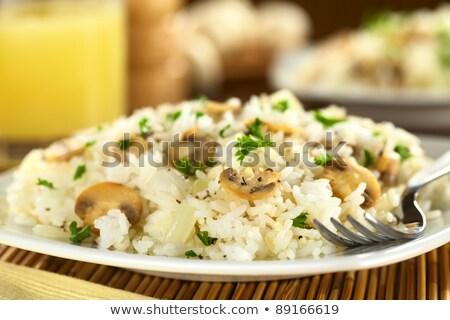 жареный риса грибы азиатских стиль продовольствие Сток-фото © 1986design