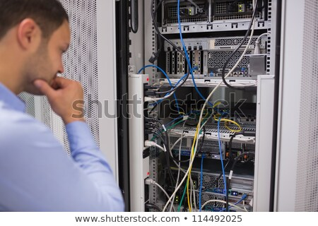 Interior of rack mounted servers Stock photo © wavebreak_media