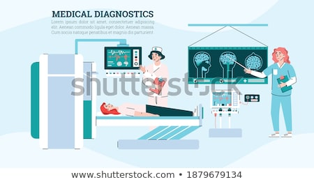 Doctors making a diagnosis using x-ray images Stock photo © d13