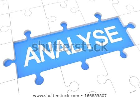 Content - Word on Blue Puzzles. Stock photo © tashatuvango