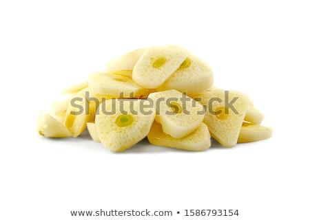 Fél fej fokhagyma gerezd izolált fehér Stock fotó © Cipariss