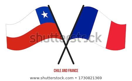 Franciaország Chile zászlók puzzle izolált fehér Stock fotó © Istanbul2009