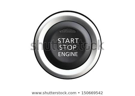 bouton · voiture · moteur · commencer · arrêter · bleu - photo stock © iqoncept