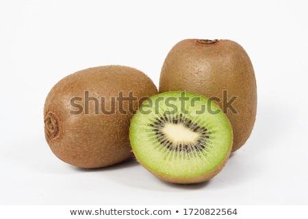 Frescos kiwi alimentos verde grupo placa Foto stock © tycoon