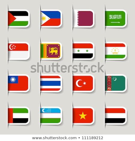 Suudi Arabistan Tacikistan bayraklar bilmece yalıtılmış beyaz Stok fotoğraf © Istanbul2009